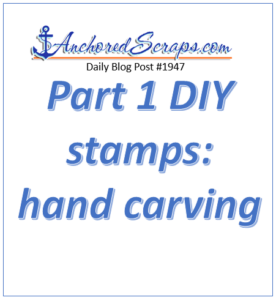 Part 1 DIY stamps hand carving
