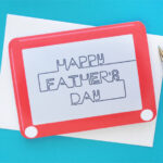Retro Etch A Sketch Printable Fathers Day Card