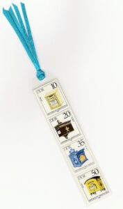 Mailbox Stamp Bookmark Laminated