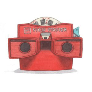 YeesanLoh Retro Objects Viewmaster Notecard