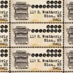 ThePerforatedPost Vintage Typewriter Return Address Labels