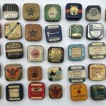 Vintage Typewriter Ribbon Tin Collection
