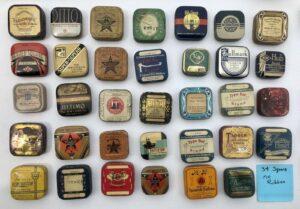 Vintage Typewriter Ribbon Tin Collection