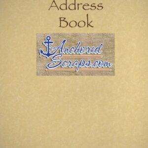 Anchored Scraps Old-Style Correspondence Address Book