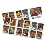 Looking for Purple Bell Peppers amid Fruits and Vegetables stamps