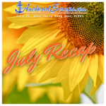 July 2020 AnchoredScraps Blog Recap & Sunflowers Printable Letter Writing Prompt