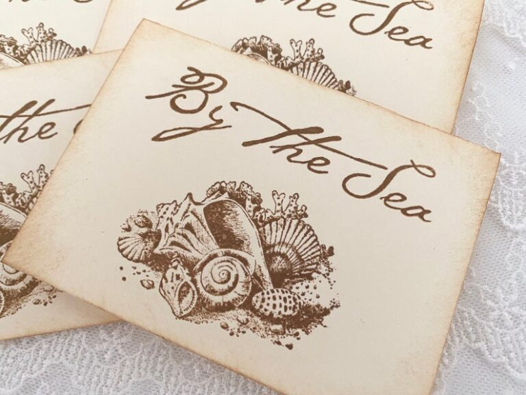 By the Sea Seashell Stationery