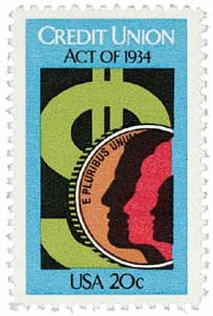 Credit Union Act Stamp 50th Anniversary 1984