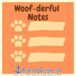 Cooper Writes a Letter & Woof-derful Notes Printable