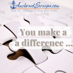 You Make a difference puzzle piece thoughtful note