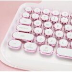 Typewriter Inspired Retro Design Rymek Chic Mechanical Keyboard by KnewKey works on both USB and Bluetooth