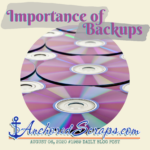 Importance Of Backups (& Daily Blog Post #1989!)