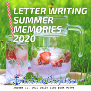 Letter Writing Summer Memories 2020