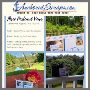 Three Postcard Views of SnailMail Genuine Souvenir Postcard Blog Title Card