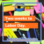 Two Weeks to Labor Day, Thrifty Office Furniture, & Dollar Tree White Cardboard Trifold Presentation Board