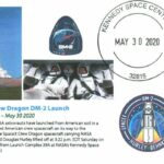 SpaceX Falcon 9 Crew Dragon Cachet & Pictorial Postmark