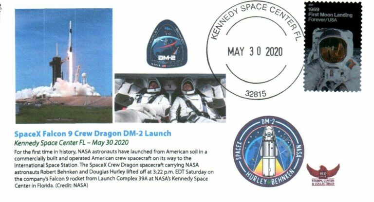 SpaceX Falcon 9 Crew Dragon DM2 Launch May302020 cachet