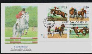 Sporting Horses 1993 Cachet