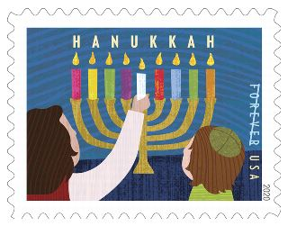 Holiday Forever 2020 Stamps: Hanukkah