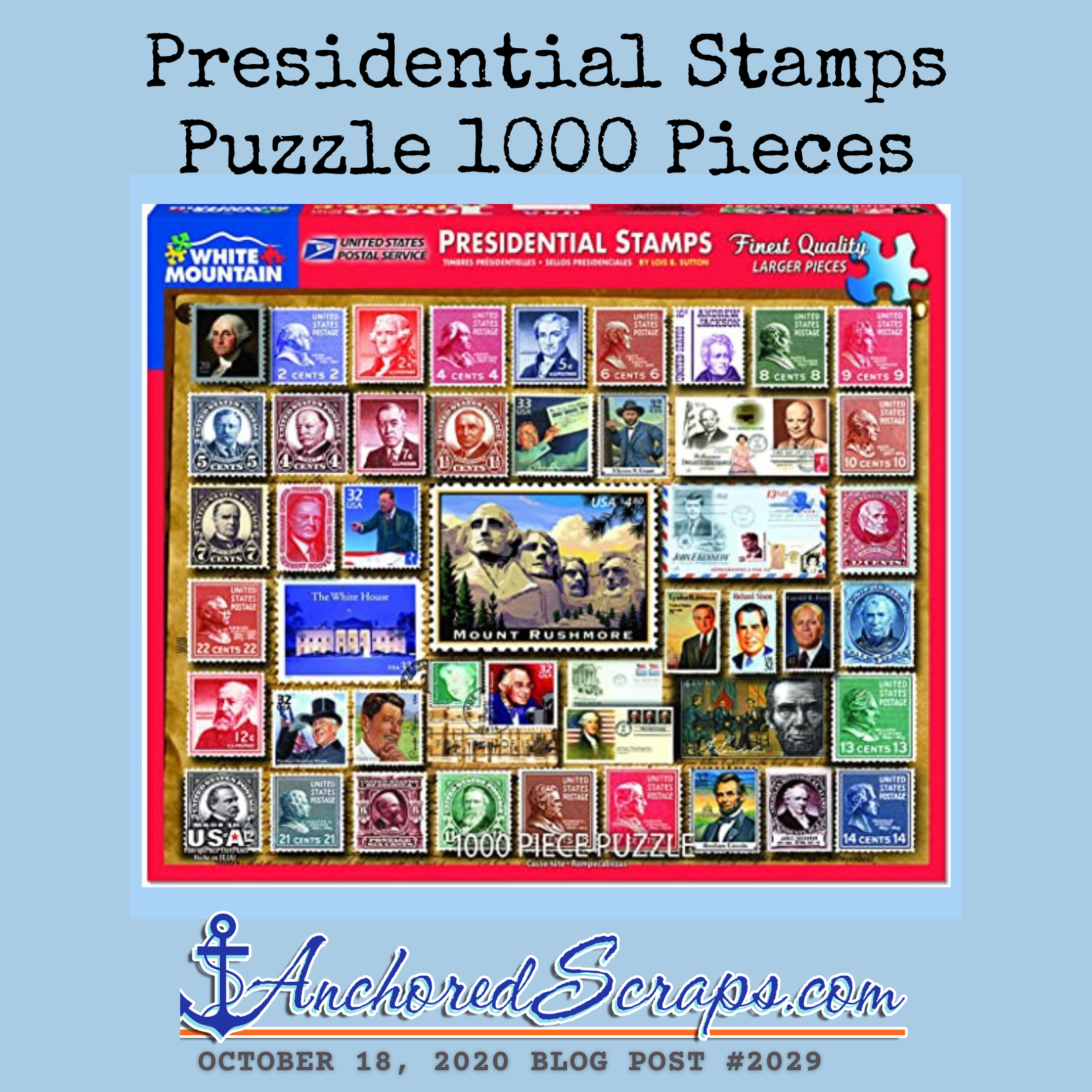 Presidential stamps puzzle 1000 pieces #2029