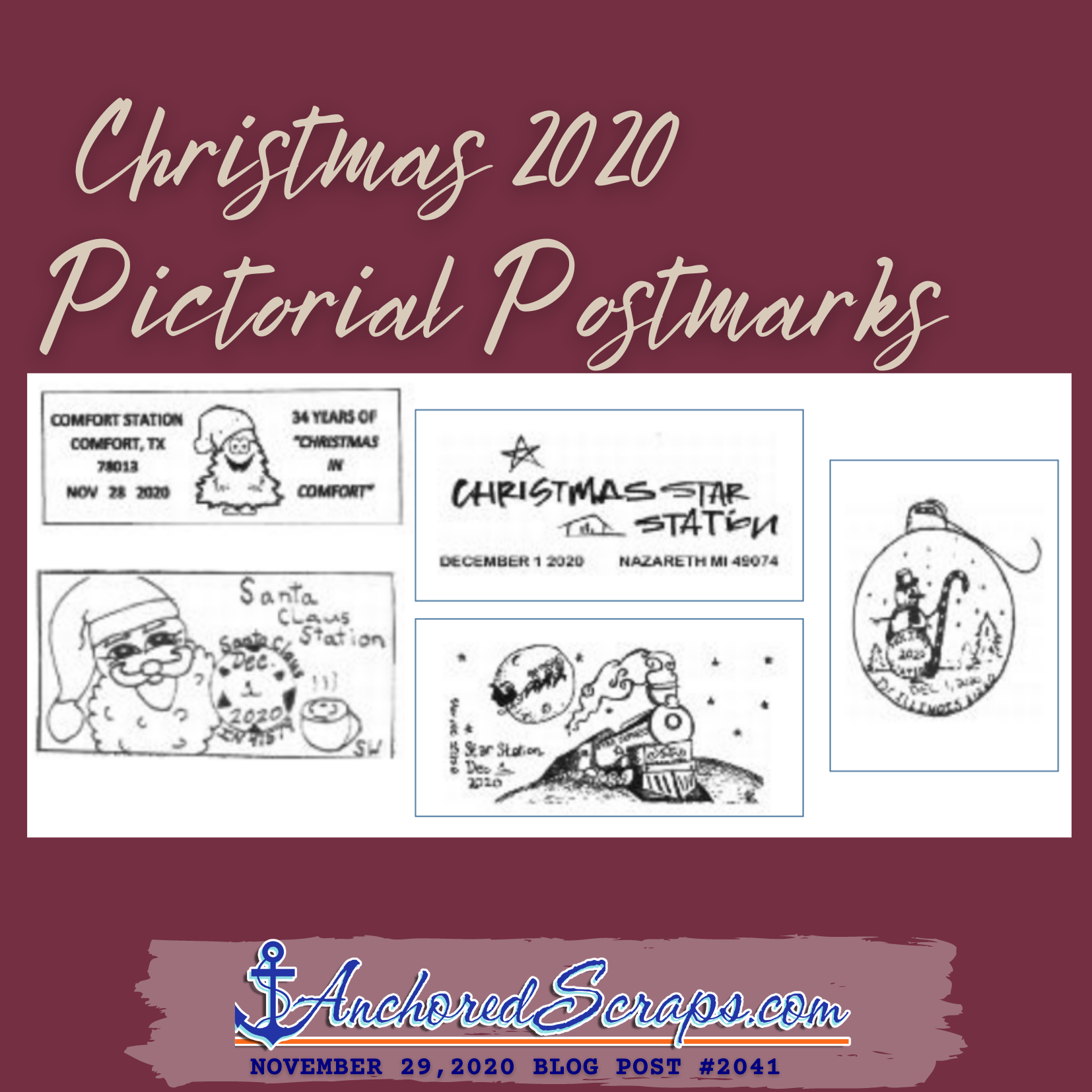 Christmas 2020 Pictorial Postmarks