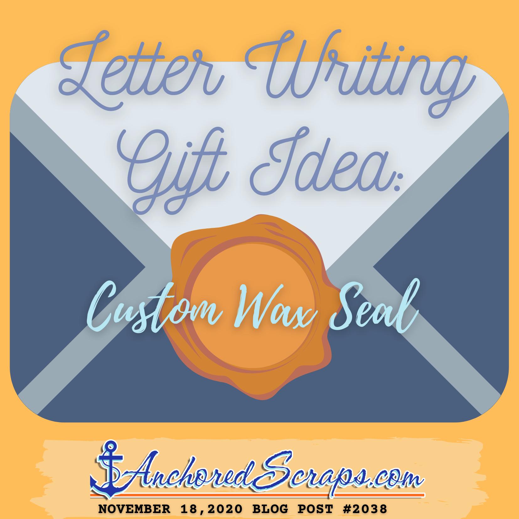 Letter Writing Gift Idea Custom Wax Seal #2038