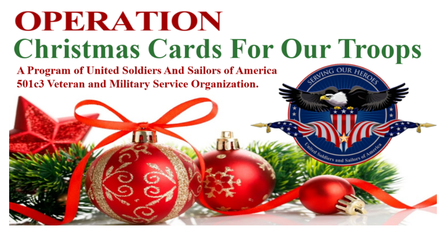 Clickable image linking to Operation Christmas Cards For Our Troops at USASOA