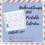 AnchoredScraps Printable 2021 Calendar