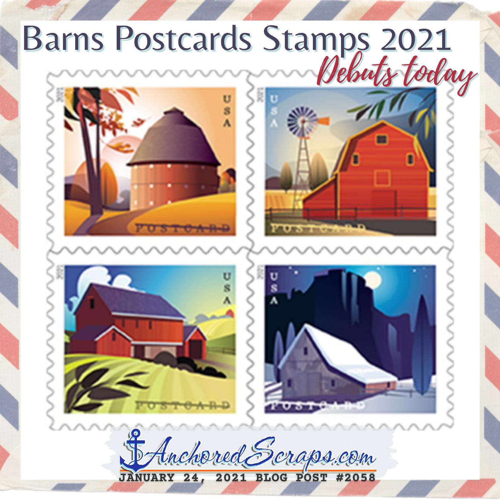 Barns Postcards Stamps 2021