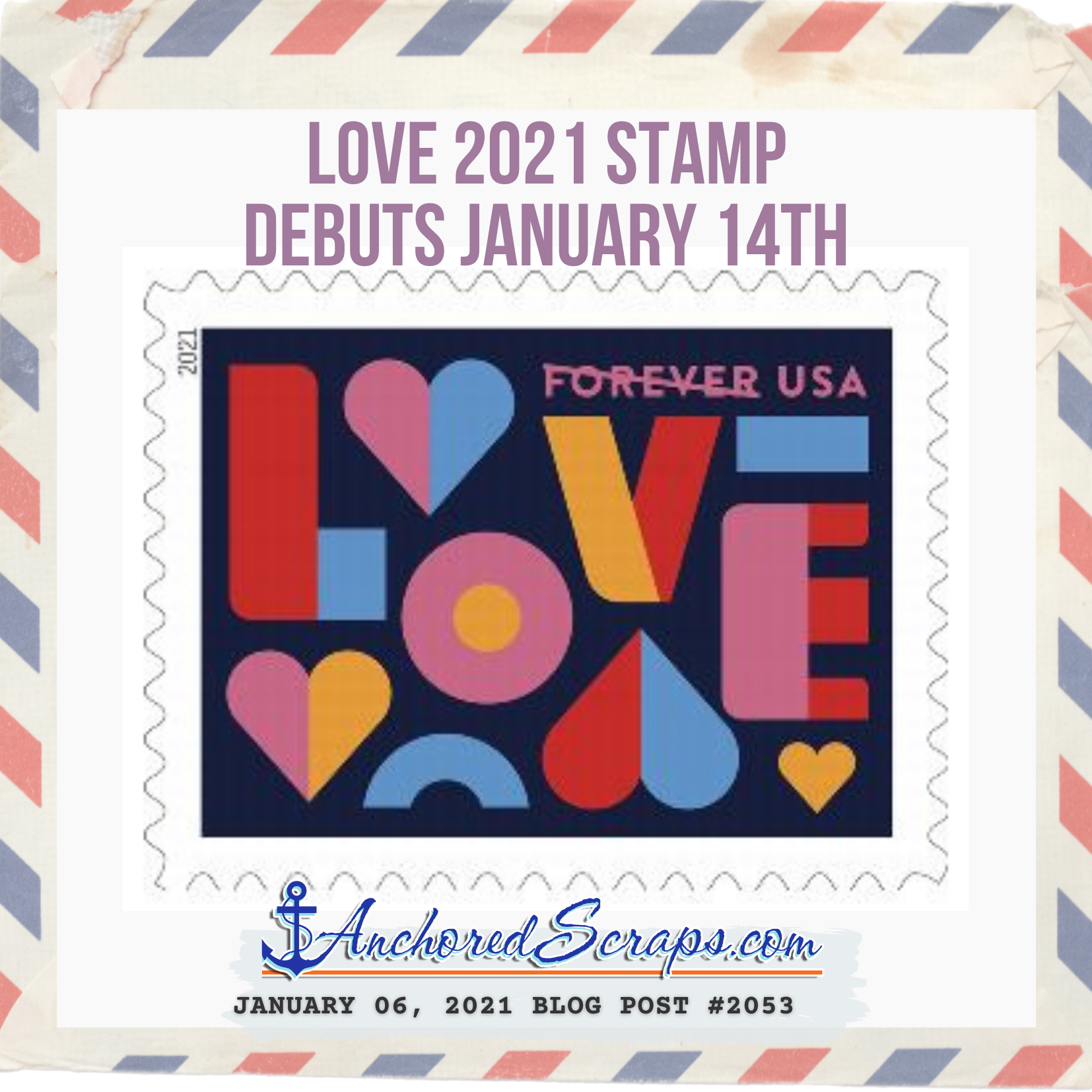 LOVE 2021 Stamp debuts January 14