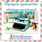 Olympia typewriter vintage postcard