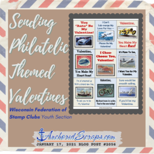 Sending Philatelic Valentines Wisconsin Federation of Stamp Clubs Youth #2065