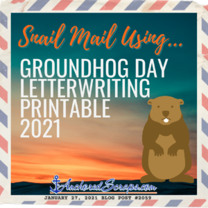 Groundhog Day Letterwriting Printable
