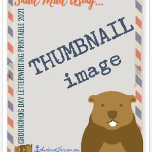 Groundhog Day Letterwriting Printable 2021 PDF