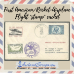 "The First American Rocket-Airplane Flight ""stamp"" cachet"