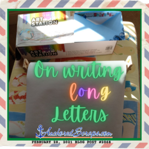 on writing long letters