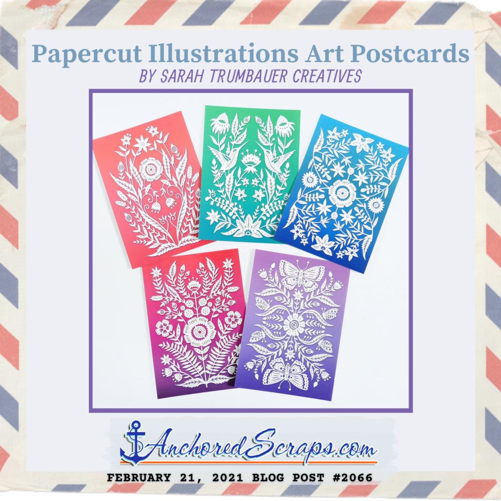 Papercut Illustrations Art Postcards