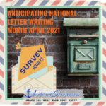 Anticipating National Letter Writing Month April 2021
