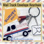 Mail Truck Envelope Keychain