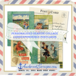 PERSONALIZED Seaside Collage Correspondence Postcards