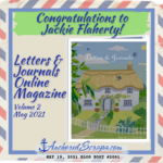 Congratulations to Jackie Flaherty! Letters & Journals Online Magazine Volume 2