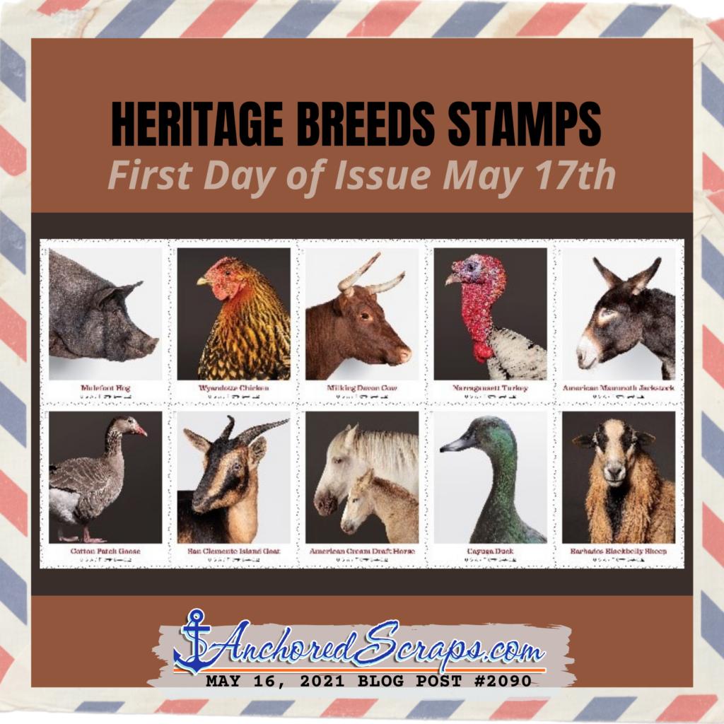 Heritage Breeds Stamps USPS #HeritageBreedsStamps