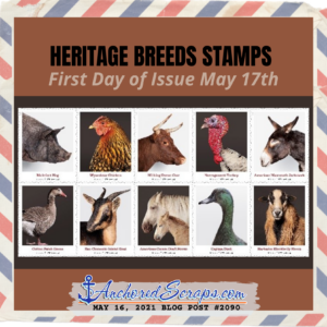 Heritage Breeds Stamps USPS First Day of Issue May 17 2021
