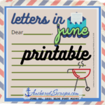 Writing Letters in June Printable