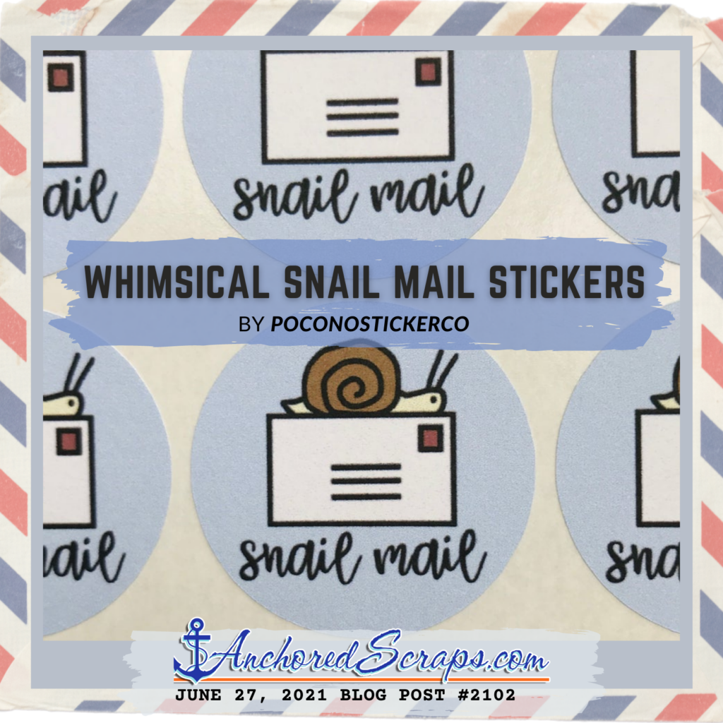 On adding whimsical snail mail stickers by poconostickerco