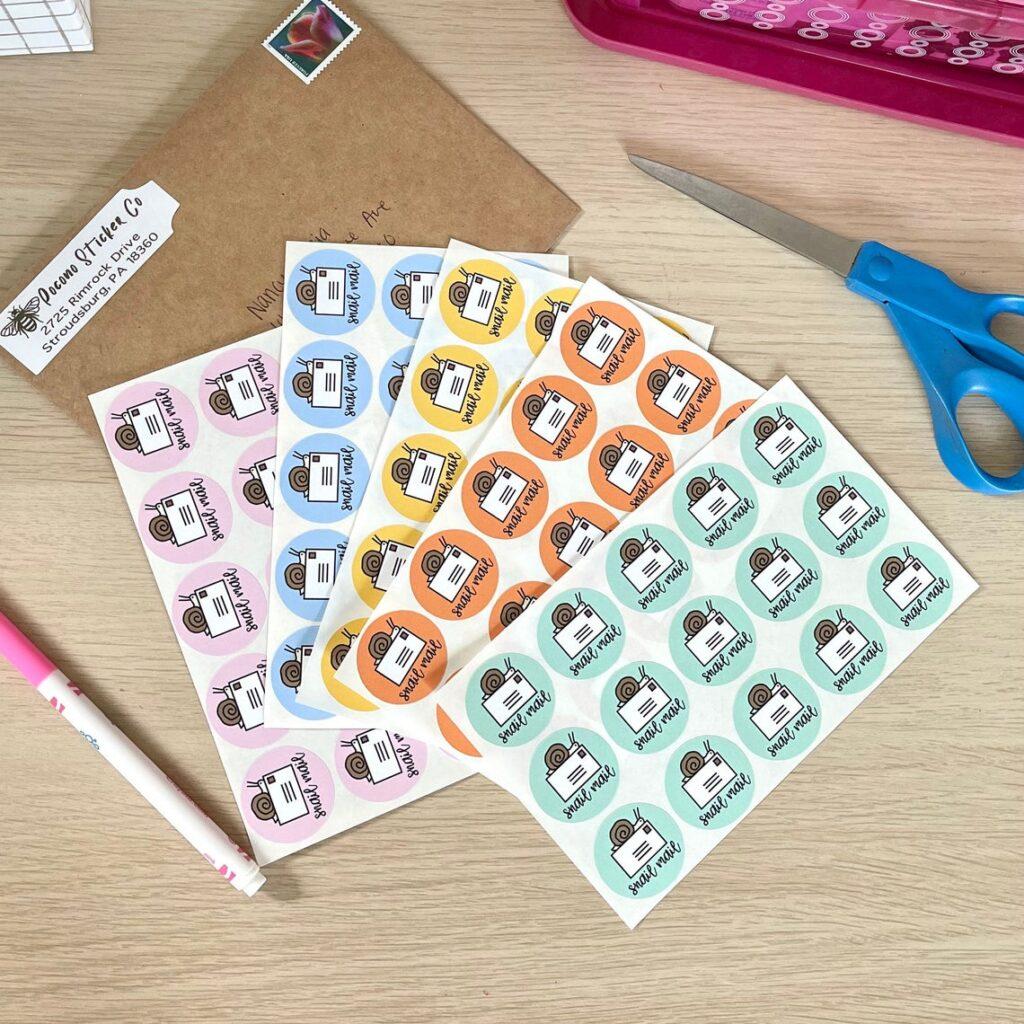 Snail Mail Sticker MultiPack PoconoStickerCo