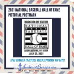 2021 National Baseball Hall of Fame Pictorial Postmark DATE